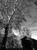 黑&白的阿士塔布拉县是俄亥俄-俄亥俄的被遮盖的桥首都-美国 库存照片