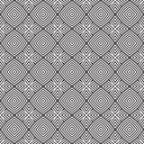 黑n白色传染媒介几何线正方形设计无缝的背景样式例证 免版税图库摄影