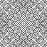 黑n白色传染媒介几何线设计无缝的背景样式例证 库存照片