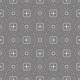 黑n白色传染媒介线幻觉设计无缝的背景样式例证 免版税库存照片