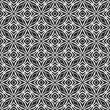 黑n白色几何设计无缝的传染媒介样式背景例证 库存照片