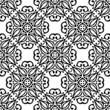 黑n白色圈子设计无缝的背景样式例证 免版税库存图片