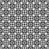 黑n白色无缝的小样式背景例证 库存例证