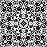 黑n白色设计无缝的样式背景例证 库存例证