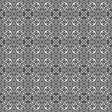 黑n白花设计无缝的样式背景例证 库存例证