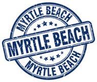 默特尔海滩邮票 皇族释放例证
