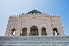 默罕默德v皇家陵墓和清真寺在拉巴特,摩洛哥,非洲 库存照片
