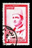 默罕默德V, serie国王,大约1956年 免版税库存图片