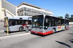 默西迪丝在罗马公车运送 库存照片