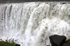 黛提瀑布瀑布,冰岛 免版税图库摄影
