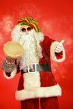 鼓手圣诞老人 免版税图库摄影