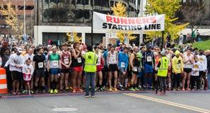 鼓槌破折号的赛跑者联盟,罗阿诺克,弗吉尼亚,美国 库存照片