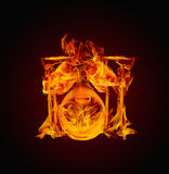 鼓火热的火例证系列 库存照片