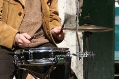 鼓球员 图库摄影