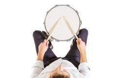 鼓的顶视图 免版税库存图片