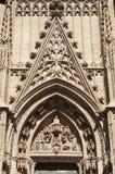 鼓膜在塞维利亚门大教堂里  库存图片