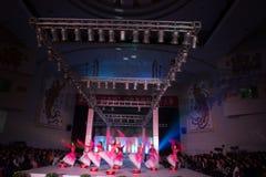 鼓舞蹈--被结束的展示 免版税库存照片