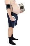 鼓起,重量标度和血压米 图库摄影