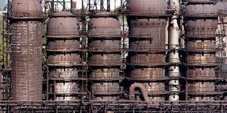 鼓风炉的钢建筑 免版税图库摄影