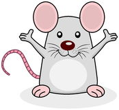 鼠愉快的开放胳膊 免版税库存图片