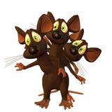 鼠标三胞胎 免版税库存照片