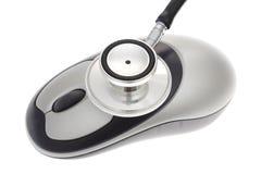 鼠标听诊器 免版税图库摄影