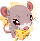 鼠标和干酪 库存图片