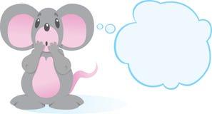 鼠标害怕了 库存图片