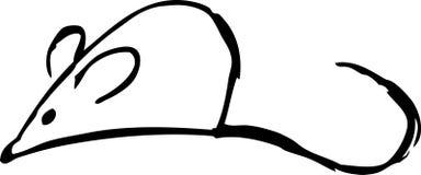 鼠标shilouette 库存例证