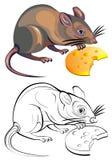 鼠的五颜六色的黑白样式 免版税库存图片