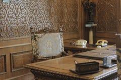 齐奥塞斯库的家庭住所开放为公众 免版税库存图片