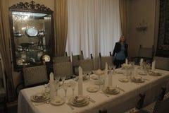 齐奥塞斯库的家庭住所开放为公众 库存图片