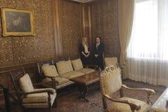 齐奥塞斯库的家庭住所开放为公众 免版税图库摄影