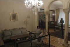 齐奥塞斯库的家庭住所开放为公众 图库摄影