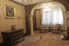 齐奥塞斯库的家庭住所开放为公众 库存照片