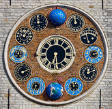 齐默尔塔的时钟, Lier,比利时 免版税库存照片