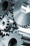 齿轮、嵌齿轮、银灰色和钢 免版税库存图片