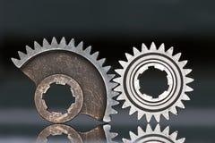 齿轮二轮子 免版税图库摄影