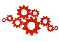 齿轮合作工作 免版税库存图片