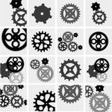 齿轮和嵌齿轮技工 免版税库存照片