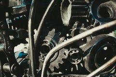 齿轮和轴承在一件被装配为艺术 免版税库存照片