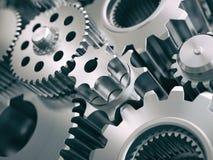 齿轮和钝齿轮引擎工业背景 向量例证