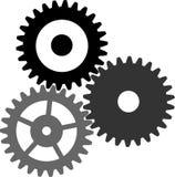 齿轮图标向量 免版税库存照片