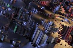齿轮工业背景 免版税图库摄影