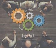 齿轮技术旋转轮子轮子概念 免版税库存图片
