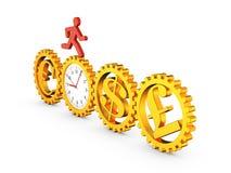 齿轮时钟 免版税库存图片