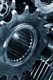齿轮机械银灰色 免版税库存照片