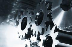 齿轮机械银灰色 库存照片