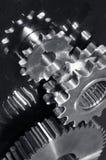 齿轮机械银灰色 免版税图库摄影