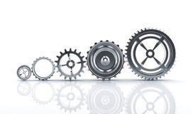 齿轮机械 免版税库存图片